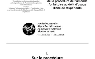 Questionnaire à la société civile, relatif à l'application de la procédure de l'amende forfaitaire au délit d'usage illicite de stupéfiants.