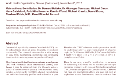 Joint EIHA – FAAAT contribution to the 39th ECDD evaluation of Cannabidiol
